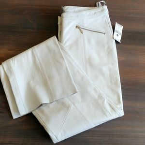 NWT Wilson's genuine leather zip detail pants